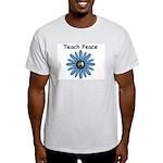 Teach Peace Ash Grey T-Shirt