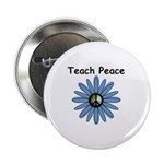 """Teach Peace 2.25"""" Button (10 pack)"""