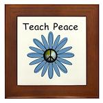 Teach Peace Framed Tile