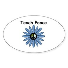 Teach Peace Oval Decal