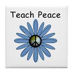 Teach Peace Tile Coaster