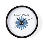 Teach Peace Wall Clock
