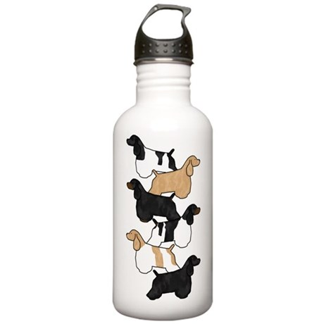 Group O' Cocker Spaniels Stainless Water Bottle 1.