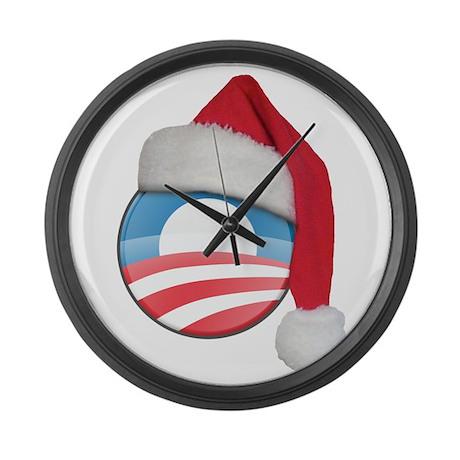 Santa Obama Large Wall Clock