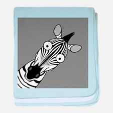 Happy Zebra Infant Blanket