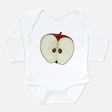 Half apple Long Sleeve Infant Bodysuit