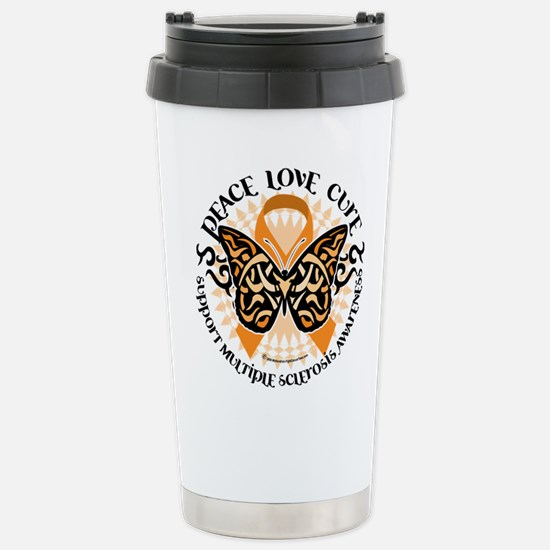 MS Tribal Butterfly Stainless Steel Travel Mug