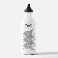 Blue Merle Sheltie on Sheep Water Bottle