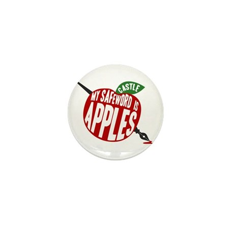 Castle My Safeword Is Apples Mini Button