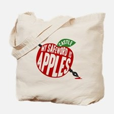 Castle My Safeword Is Apples Tote Bag
