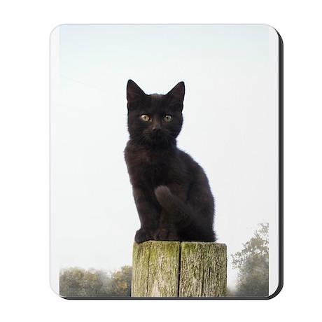 Black Kitty Mousepad