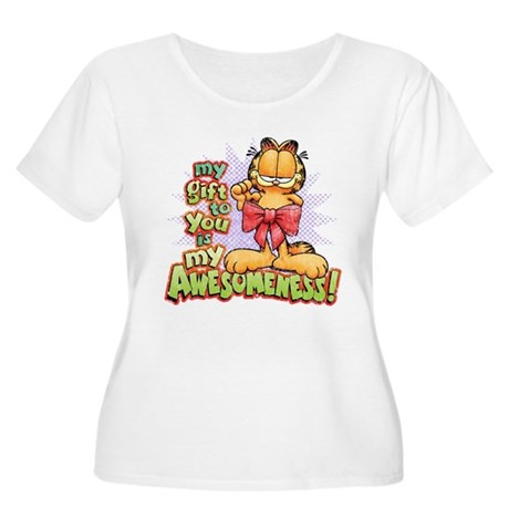 My Awesomeness Women's Plus Size Scoop Neck T-Shir
