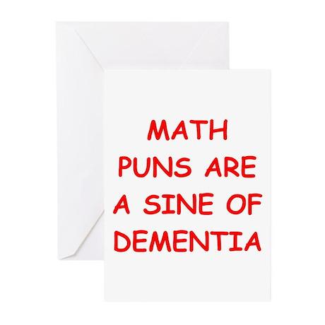 funny math joke Greeting Cards (Pk of 20)