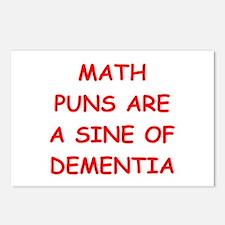 funny math joke Postcards (Package of 8)