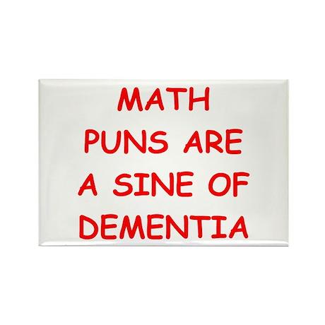 funny math joke Rectangle Magnet (100 pack)