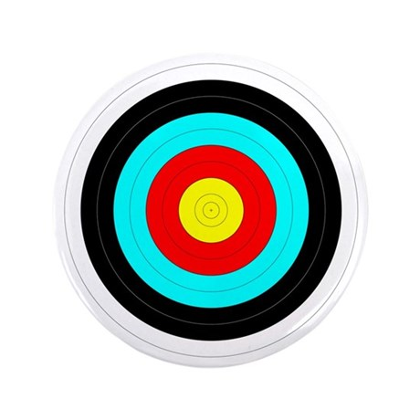 "Archery Target 3.5"" Button"