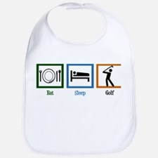 Eat Sleep Golf Bib
