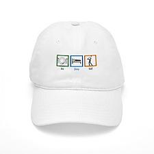 Eat Sleep Golf Baseball Cap