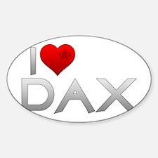 I Heart Dax Sticker (Oval)