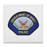U S Navy Police Tile Coaster