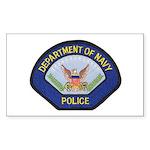 U S Navy Police Sticker (Rectangle)