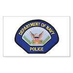 U S Navy Police Sticker (Rectangle 50 pk)