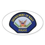 U S Navy Police Sticker (Oval)