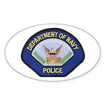 U S Navy Police Sticker (Oval 50 pk)