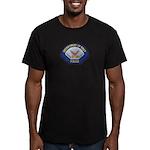 U S Navy Police Men's Fitted T-Shirt (dark)