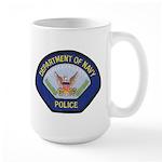 U S Navy Police Large Mug