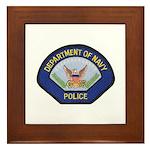 U S Navy Police Framed Tile