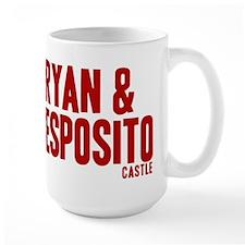 Castle Ryan And Esposito Large Mug