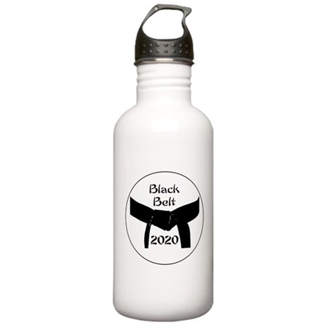 Martial Arts Black Stainless Water Bottle 1.0l