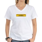 We Must Never Again Women's V-Neck T-Shirt