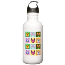 Boston Terrier Pop Art Water Bottle