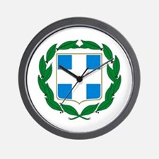 Greek Coat of Arms Wall Clock