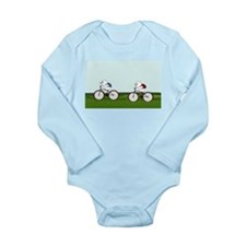 Biking Through the Prairie Long Sleeve Infant Body