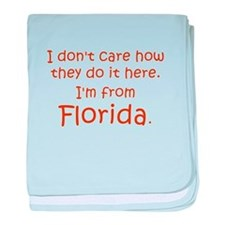 From Florida baby blanket