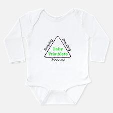 Baby Triathlete Long Sleeve Infant Bodysuit