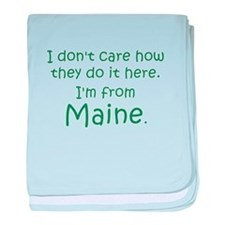 From Maine baby blanket