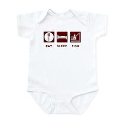 Eat Sleep Fish Infant Bodysuit