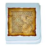 Celtic Letter F Infant Blanket