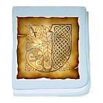 Celtic Letter J Infant Blanket
