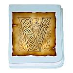 Celtic Letter V Infant Blanket