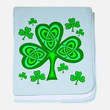 Celtic Shamrocks Infant Blanket