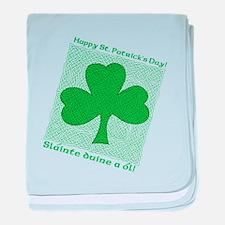 Celtic Shamrock Slainte Infant Blanket