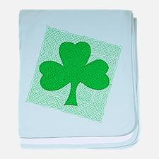 Celtic Shamrock Infant Blanket