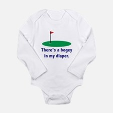 Bogey in my Diaper Long Sleeve Infant Bodysuit