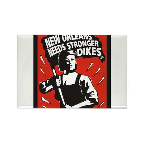 New Orleans Katrina Stuff Rectangle Magnet (100 p