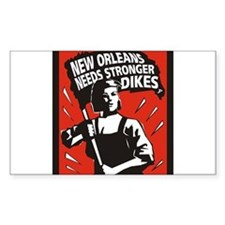 New Orleans Katrina Stuff Rectangle Decal